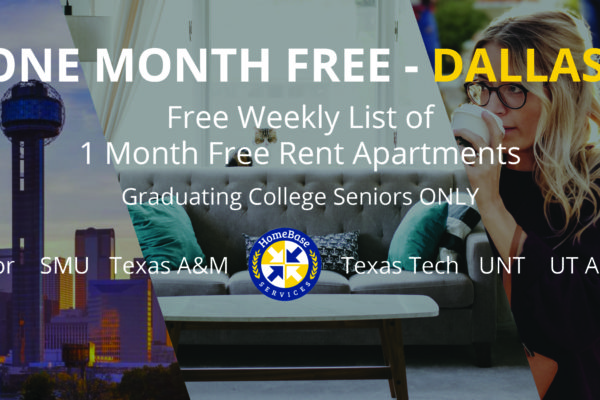 Dallas Apartments offering 1 month free rent weekly report - As of March 22 2018