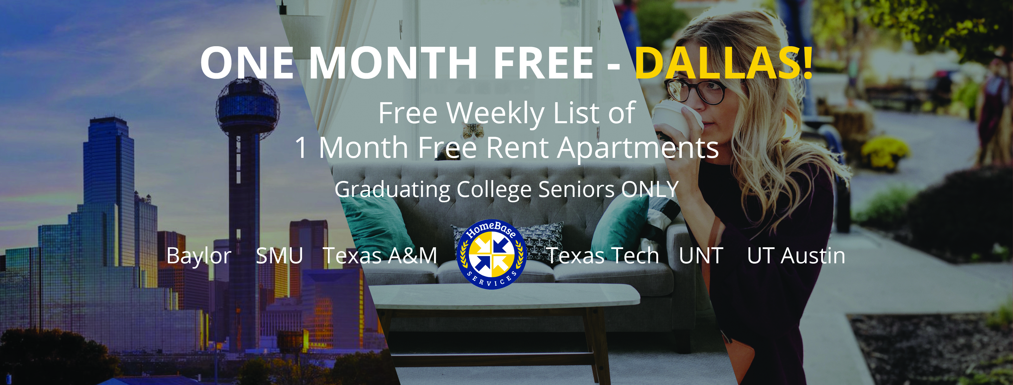 Dallas Apartments Offering 1 month Free Weekly Specials – As of March 22, 2018