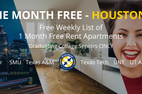 Houston apartments offering 1 month free rent