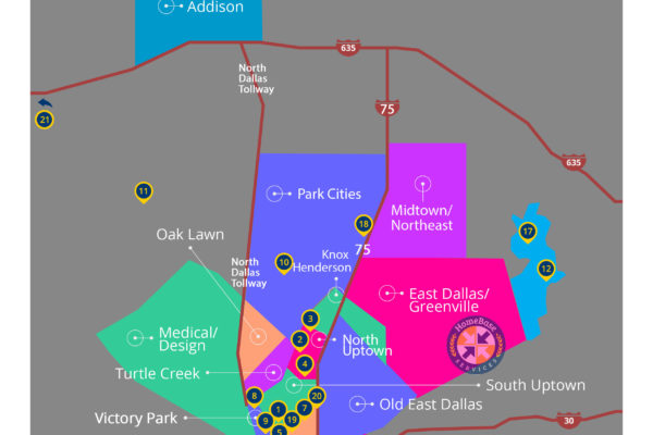 Dallas Areas and Attractions Map - Free PDF Download