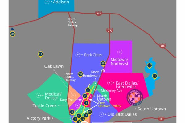 Grant Thornton Dallas Area and Attractions Map