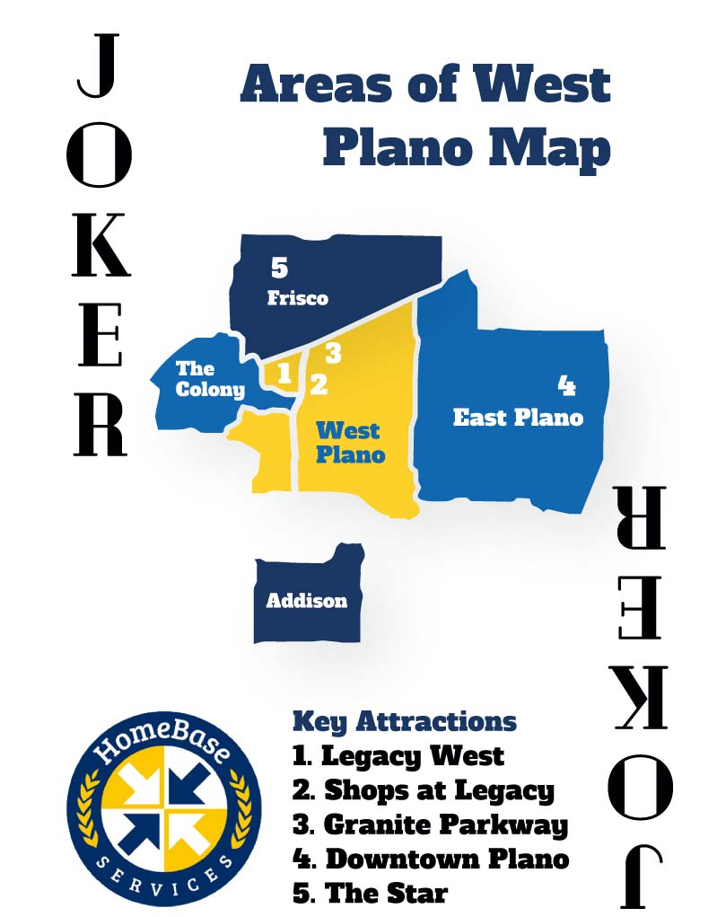 west plano area map